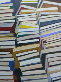 Books III, Acrylic on Canvas, 80 x 60 cms, £500