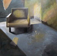 Empty Chair, Acrylic on Canvas, 100 x 100 cms, £1000